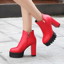 Ericdress Fashion Chunky High-heel Boots