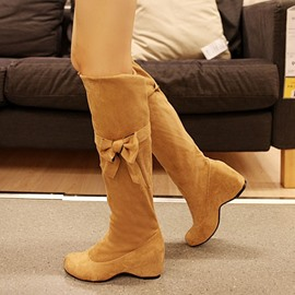 Ericdress Korean Knee High Boots with Bowknot