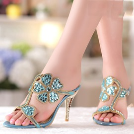 Ericdress Roman Luxrious Rhinestone Stiletto Sandals