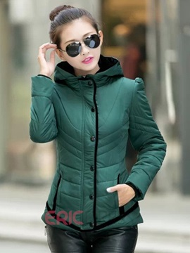 Ericdress Short Hooded Cotton Padded Coat