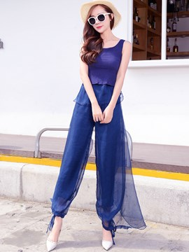 Ericdress Chiffon Culottes Suit