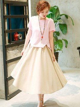 Ericdress Pastoral Simple Color Block Suit