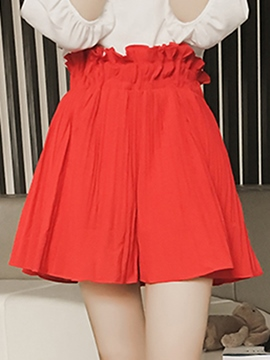 Ericdress Elegant Frill Pleated Shorts