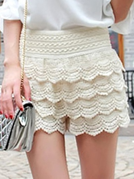 Ericdress Sweet Layered Lace Shorts