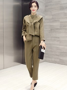 Ericdress Solid Color Fashion Suit