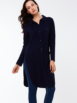Ericdress Cut Side Single -Breasted Blouse