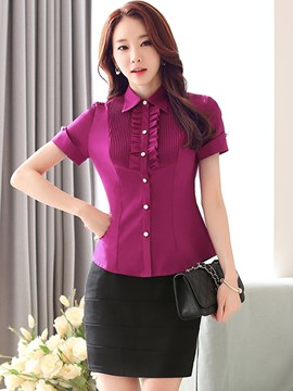 Ericdress OL Style Frill Blouse Suit