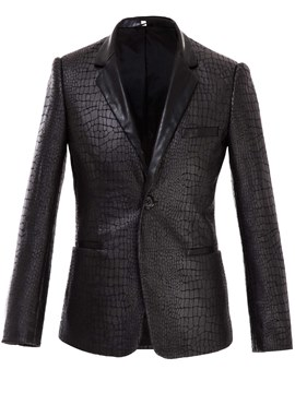 Ericdress PU Warm Vogue Slim Men's Blazer