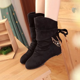 Fashion Ankle Boots with Metal Tassels