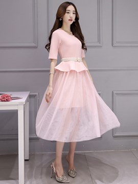 Ericdress Solid Color Ladylike Suit