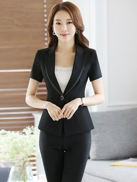 Ericdress OL Color Block Blazer Suit