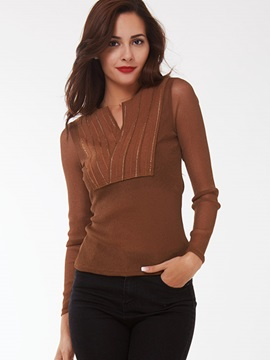 Ericdress Solid Color Casual Slim T-Shirt