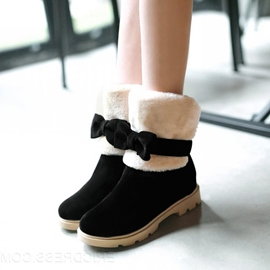 Ericdress Amazing Snow Boots with Bowtie