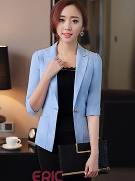Ericdress Solid Color Elegant Half Sleeve Blazer