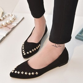 Ericdress Point Toe Flats with Rivets