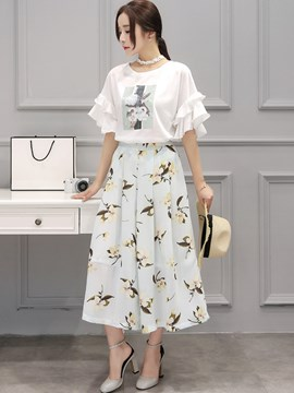 Ericdress Print Wide legs Pants ants