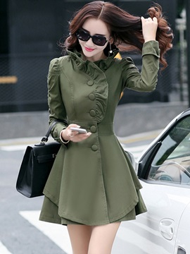 Ericdress Elegant Single-Breasted Trench Coat