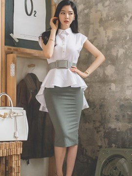 Ericdress Ladylike Skinny Skirt Suit