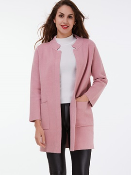 Ericdress Pink Cardigan Simple Knitwear