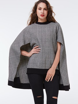 Ericdress Color Block Round Collar Batwing Cape