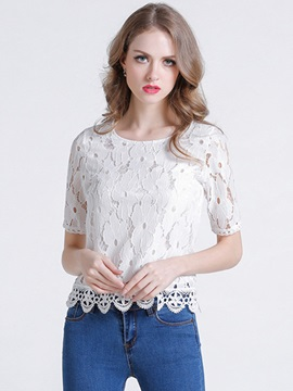 Ericdress Loose Lace Blouse