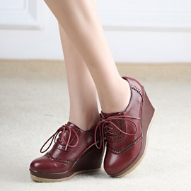 Ericdress Chic Lace-up Wedge Ankle Boots
