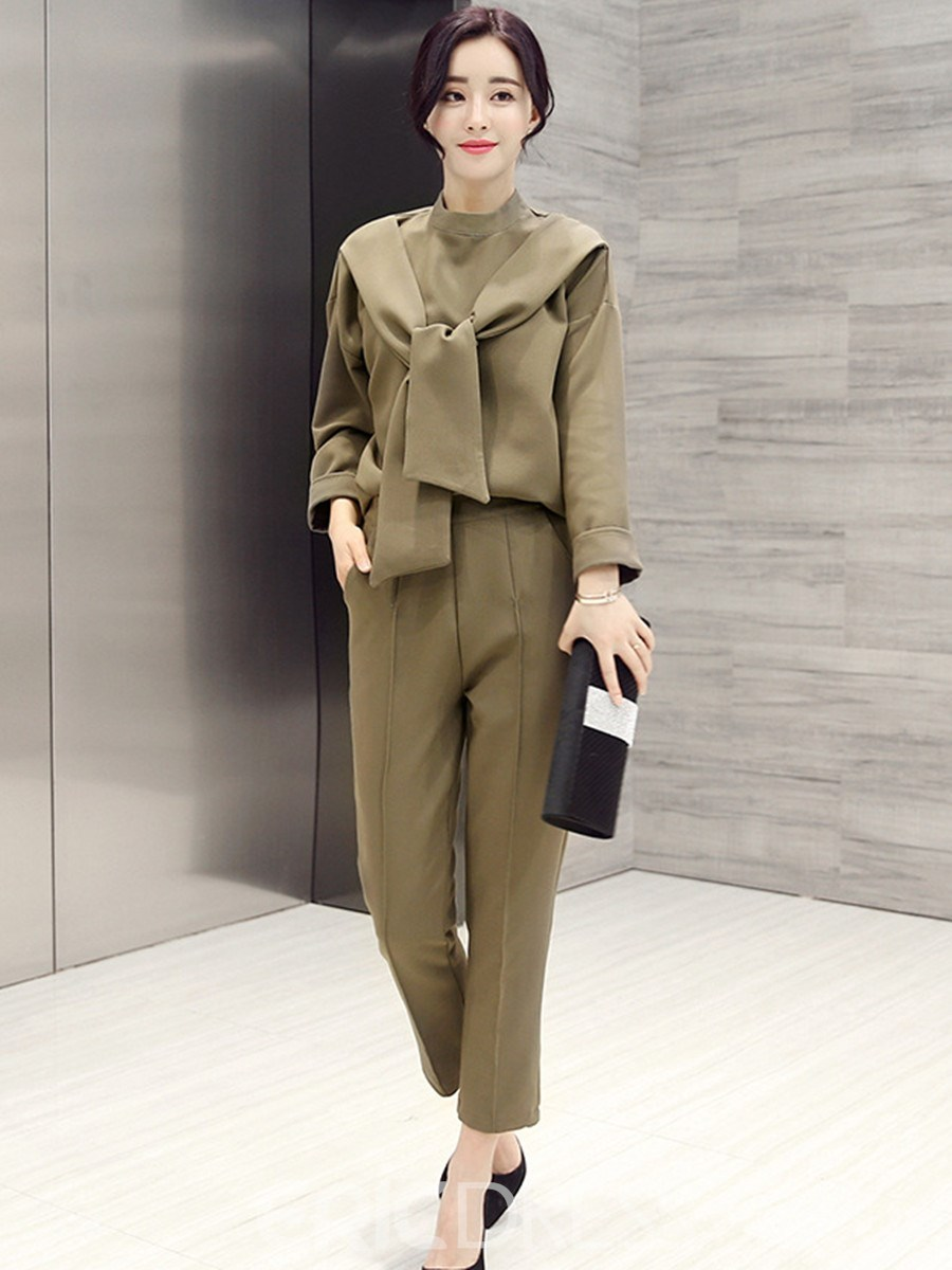 Ericdress Solid Color Fashion Suit Ericdress
