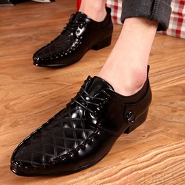 Ericdress Pointed Toe Square Heel Men's Oxford