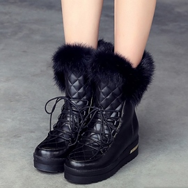 Ericdress Short Floss Elevator Heel Snow Boots