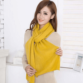 Ericdress Simple Pure Color Knitted Scarf