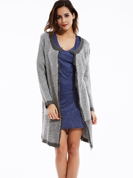 Ericdress Polka Dots Round Neck Cardigan Knitwear