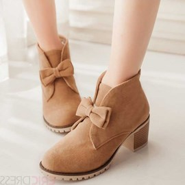 Ericdress Pretty Bowtie Ankle Boots