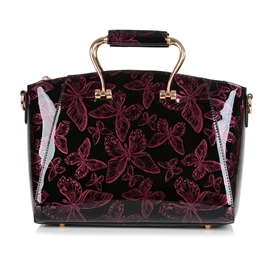 Ericdress Bowknot Patent Leather Ladies Handbag