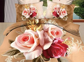 Tender Roses 100% Cotton 3D Bedding Sets