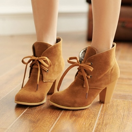 Princess Lace-up Ankle Boots