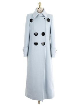 Ericdress Loose Double-Breasted Plain Coat