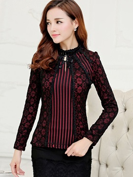 Ericdress Lace Crochet Blouse