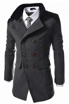 Double-breasted Casual Men's Coat