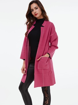 Ericdress Solid Color Cardigan Casual Knitwear