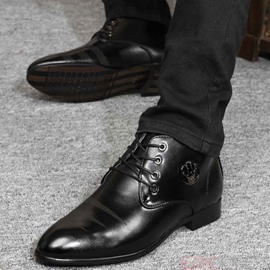 Ericdress Patent Leather Lace up Square Heel Men's Oxfords