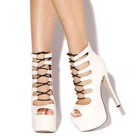 Splendid Hollow-Outs Lace up Sandals