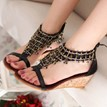 Ericdress Ethnic Wedge Sandals with Tassels