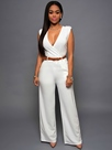 Ericdress Simple V-Neck Jumpsuits Pants