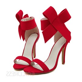 Pretty Bowknot Peep-toe Stiletto Heel Sandals