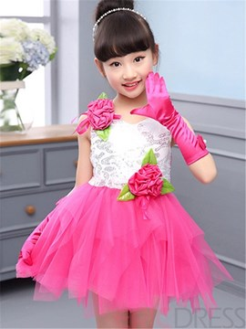 Ericdress Mesh Girls Dress