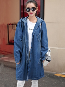 Ericdress Loose Casual Denim Denim Outerwear