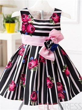 Ericdress Stripe Sleeveless Girls Dress