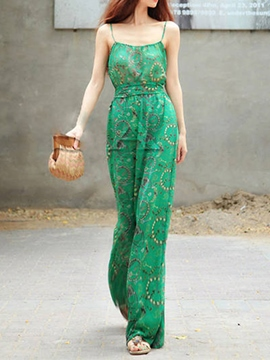 Ericdress Long Print Jumpsuits Pants