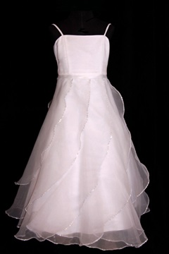 Pretty A-line Spaghetti Straps Floor-length Ruffling Flower Girl Dresses
