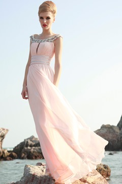 Ericdress Graceful Off-the-Shoulder Floor-Length Prom Dress